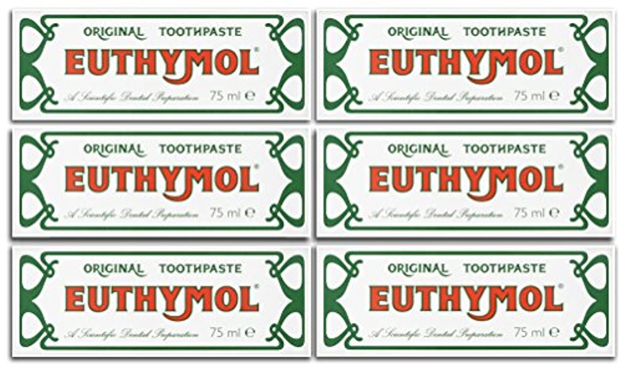 ヨーロッパ瞬時にマイクロフォンEuthymol Original Toothpaste 75ml (Case Of 6) by Euthymol