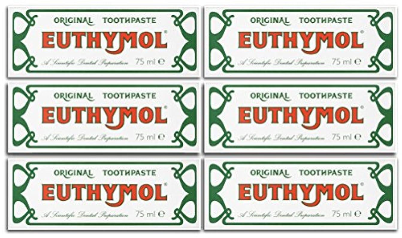 エステートしがみつくハンディキャップEuthymol Original Toothpaste 75ml (Case Of 6) by Euthymol