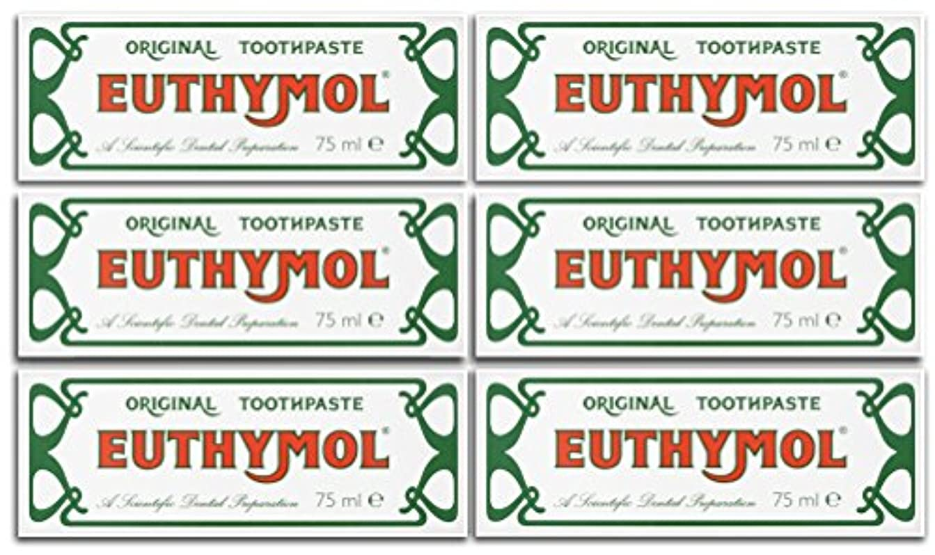 シンポジウムグローバルヘルメットEuthymol Original Toothpaste 75ml (Case Of 6) by Euthymol