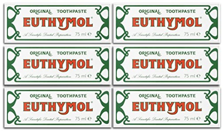 列挙するジュラシックパーク一般的にEuthymol Original Toothpaste 75ml (Case Of 6) by Euthymol