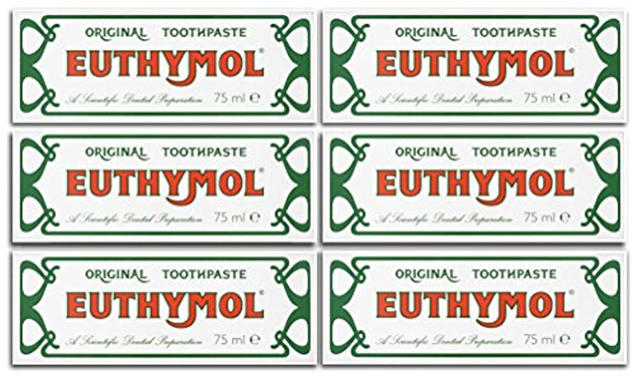 鳴らす東部マスクEuthymol Original Toothpaste 75ml (Case Of 6) by Euthymol