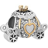 Third Time Charm Cinderella Pumpkin Carriage Charm for Bracelets