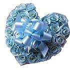 水色バラ 花束風 結婚祝い プレゼント ハート プリザーブドフラワー