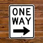 トラフィックサイン 【ONE WAY(Square)】(一方通行、四角タイプ) アメリカの道路標識