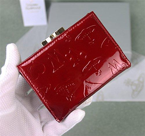 (ヴィヴィアンウエストウッド) Vivienne Westwood  レディース 三つ折り財布   (ブラック) … (ワインレッド)