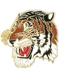 Pinmartの色付きマスコットタイガー学校スポーツエナメルラペルピン 10 ゴールド