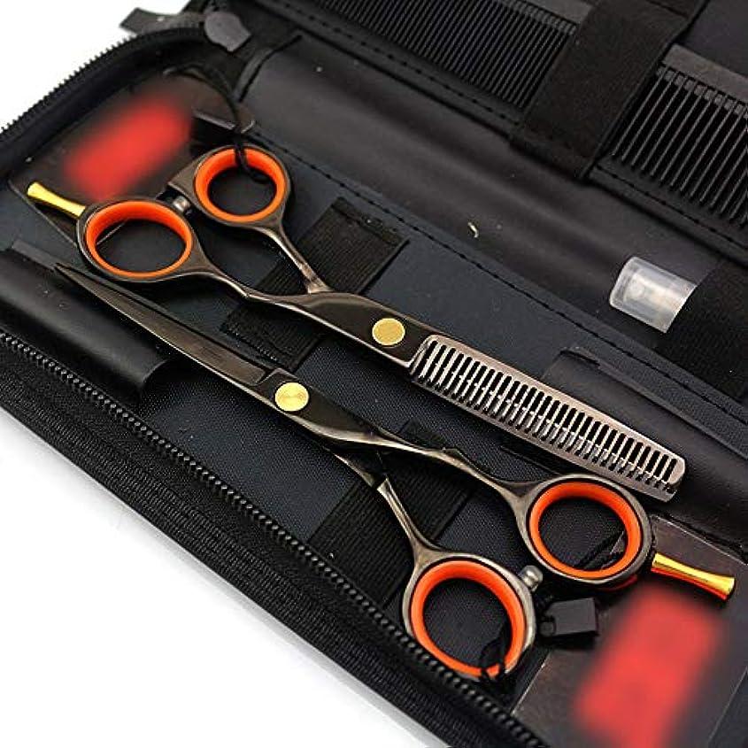 削るディレクトリ事実5.5インチの単一の尾理髪はさみセット、電気めっきされた黒い理髪はさみ ヘアケア (色 : 黒)