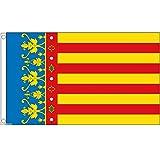 国旗 スペイン バレンシア州 州旗 特大フラッグ【ノーブランド品】