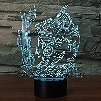 3D イリュージョン ナイトライト ランプ 7色に変化する照明 テーブルデスクランプ ホームルーム 装飾