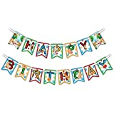 Puppy Dog Happy Birthday Party Banner Decoration (Includes 23ft Ribbon) [並行輸入品]