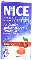 N'ICE Sugar Free Lozenges, Cherry, 24-Count Package (Pack of 6) by Nice