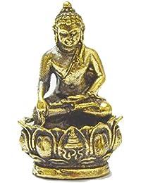 ダルマとBuddhaジュエリーギフトタイMini Buddha Statue富とLucky Buddha Amulet Strong Life保護Talisman