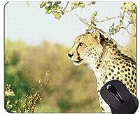 注文の元のヒョウシリーズマウスパッド、ジャガーの野生のヒョウの滑り止めのゴム製基礎マウスパッド