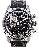 [ゼニス] ZENITH エルプリメロ クロノメーター 腕時計 ウォッチ シルバー×ブラック ステンレススチール(SS)×レザーベルト 03.2040.4061/21.C496 [中古]