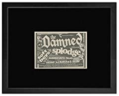 The Damned Slodge The Soft Boys - Hammersmith Palais 3rd March 1981 Framed Mini Poster - 18x20cm