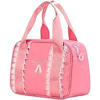 Barwa Toddler Backpack Ballet Bag Lunch Dance Ballerina Shoulder Bag for Girl (Pink)