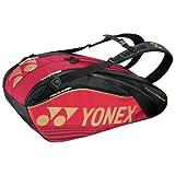 【4月末入荷予約】ヨネックス ラケットバッグ6(リュック付)テニス6本用 BAG1602R レッド(001)