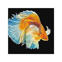 刺繍フル/ラウンドドリル動物魚の絵画クロスステッチモザイクホームデコレーション、Y8005、ラウンドドリル40X40Cm