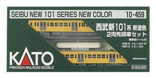 Kato N Calibre Seibu nuevo 101 sistema Shin 'nurishoku Top Coche 2-Coche Set 10-459 Modelo