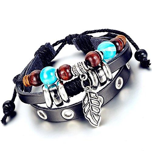 [해외]Flongo 편 포함 팔찌 가죽 팔찌 부락 골동품 13 종류의 디자인 남여 수제 남녀 팔찌 팔 장식/Flongo woven bracelet leather bangle tribal antique 13 kinds of design unisex handmade man and woman bracelet arm ornament