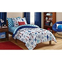 [Dovedote]Dovedote 5 Piece Reversible Comforter and Matching Sheet Set for All Seasons, Twin , Ocean Boy [並行輸入品]