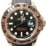 [ロレックス] ROLEX ヨットマスター 腕時計 メンズ 時計 キャンディ ブラックxローズゴールド K18RG(750)ローズゴールドxラバー 11..