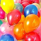 25㎝ 7色アソート 100個 カラフル バルーン 飾り風船