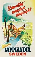 lapplandiaヴィンテージポスター(アーティスト: Nordgren )スウェーデンC。1952 12 x 18 Art Print LANT-62732-12x18
