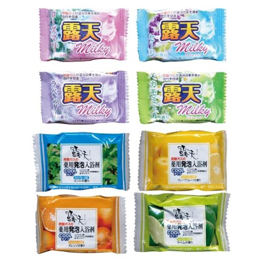 野心いろいろアベニュー露天 炭酸入浴剤8種類×4 32錠 1錠あたり100円