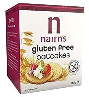 Nairn's Gluten Free Oatcakes 160g - ネアンのグルテンフリーのOatcakesの160グラム (Nairn's) [並行輸入品]