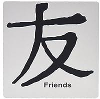 3drose LLC 8x 8x 0.25インチChinese Symbol Friendsマウスパッド( MP _ 1164_ 1)