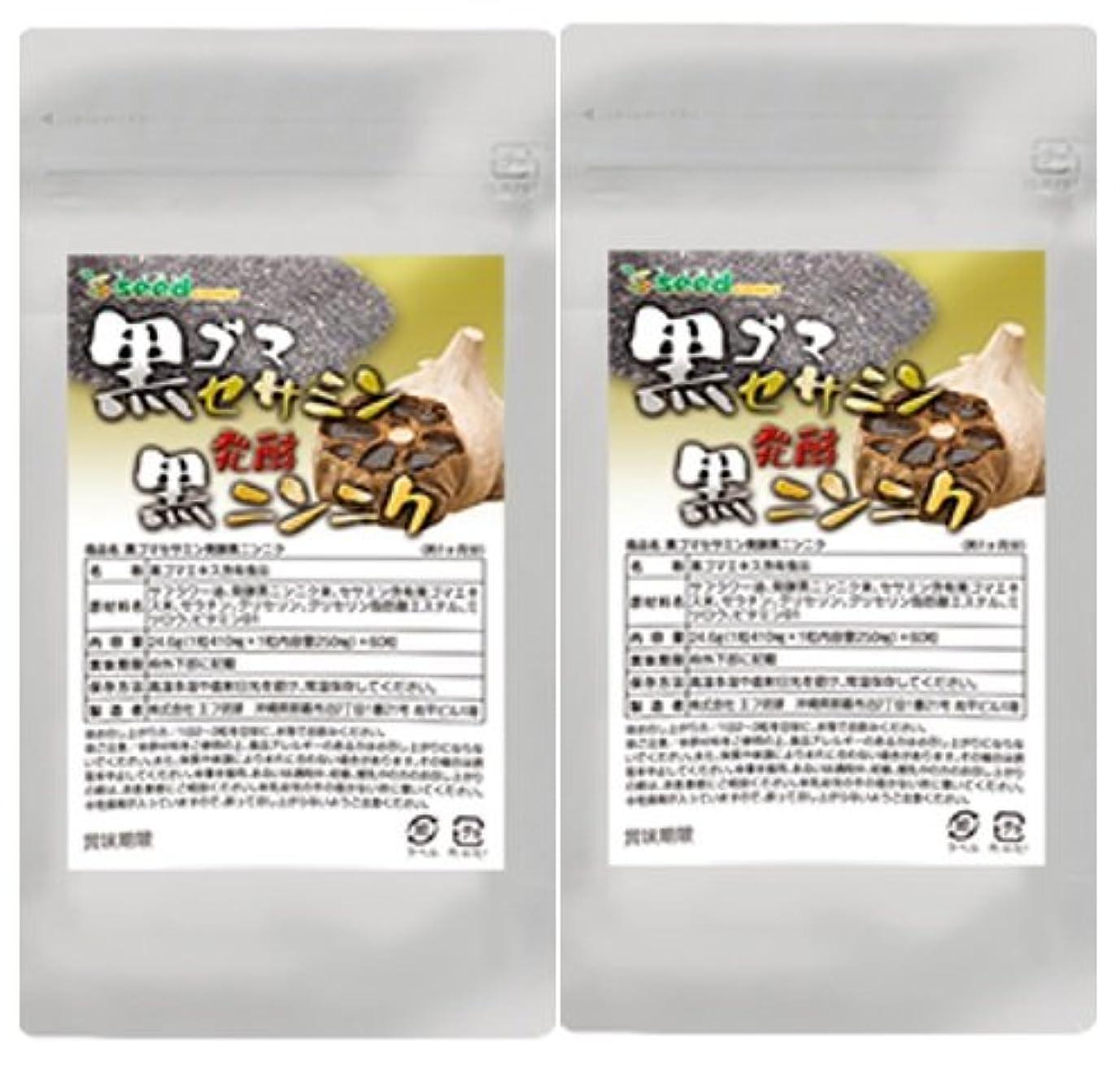 誕生日恒久的出版黒ゴマセサミン&発酵黒ニンニク (S-アリルシステイン、DATSを効率よく取り入れる) (約6ケ月分)