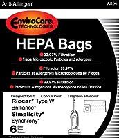 ペーパーバッグ、Brilliance SynchronyタイプW HEPA 6pk