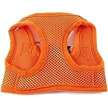 uxcell Orange Release Buckle Netty Design Pet Dog Cat Puppy Harness Vest XS