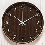 【正確な時間を刻む~シンプル&おしゃれな時計】電波時計 正確 木目調デザイン 自動時刻修正 壁掛け (D2552) Dタイプ