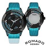 正規品スター(星柄)デザイン・ミラー文字盤腕時計 RM011-1476ST-BU STBU 【1点】