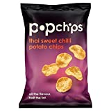 Popchipsタイ甘いチリポップポテトチップの85グラム (x 4) - Popchips Thai Sweet Chilli Popped Potato Crisps 85g (Pack of 4) [並行輸入品]