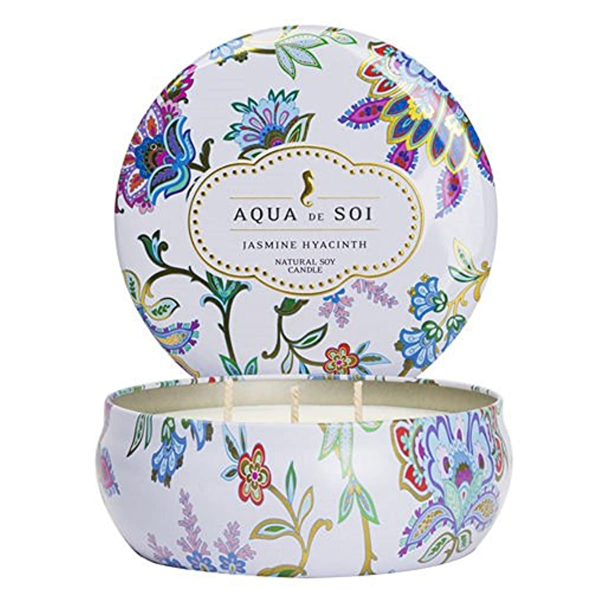 経験者航空つなぐSoi会社Aqua De Soi 100 %プレミアム天然Soy Candle、トリプルWick、21オンス 21 Ounces ホワイト unknown