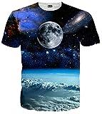(ピゾフ)Pizoff メンズ 半袖 宇宙柄 地球柄 迫力 3D おしゃれ 個性 TシャツC7058-03-S