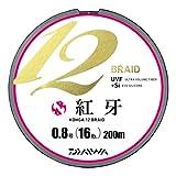 ダイワ(Daiwa) PEライン 紅牙 12ブレイド 200m 0.8号 16lb マルチカラー