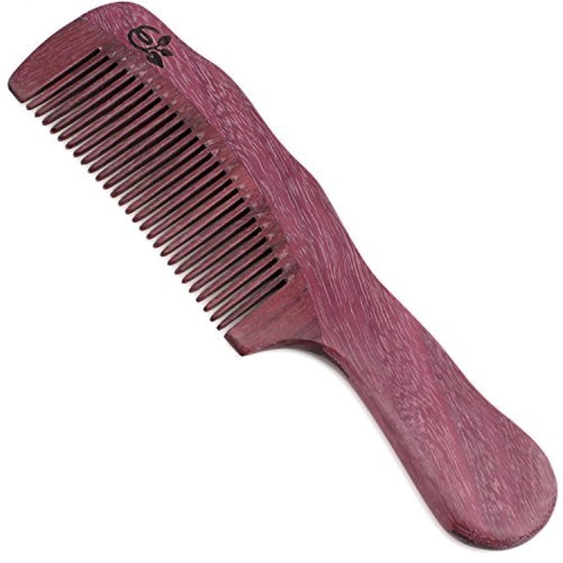 どちらも目の前の軽くEvolatree Purpleheart Wood Comb for Hair - Handmade Natural Wooden Combs with Anti-static & No Snag - Smoothing...