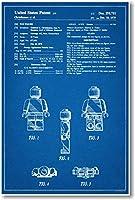 LEGO図Patent–新しい有名な発明青写真ポスター