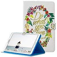 A-Beauty Galaxy Tab E 9.6 ケース SM-T560 カバー、Painted 高級 レザーTPU内側 スタンド機能 財布型 手帳型(あなたが好きなことをする)