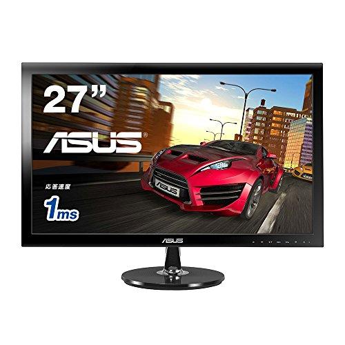 ASUS Gamingモニター 27型フルHDディスプレイ ( 応答速度1ms / TraceFree / 1,920x1,080 / HDMI×2,D-sub×1 / スピーカー内蔵 / VESA規格 / 3年保証 ) VS278H