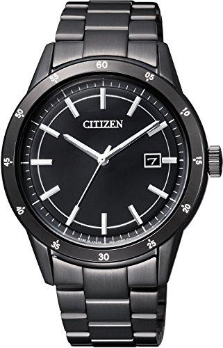 [シチズン]CITIZEN 腕時計 CITIZEN-Collection シチズンコレクション Eco-Drive エコ・ドライブ メタルフェイス 日本製 オールブラックモデル AW1165-51E メンズ