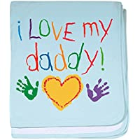 CafePress – I Love My Daddy – スーパーソフトベビー毛布、新生児おくるみ ブルー 048343386525CD2