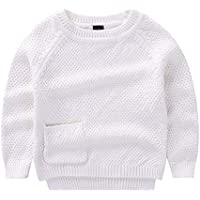 KIMJUN Toddler Baby Boys Girls Pullover Sweater Kids Solid Cable Knit Sweatshirt 1-8T