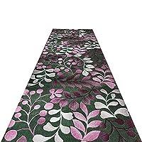 ZHAOHUI 廊下のカーペット ロング 葉のデザイン 防塵 抗菌 流さない 滑り止め、 カスタマイズ可能、 7mm (色 : A, サイズ さいず : 1.4x4m)