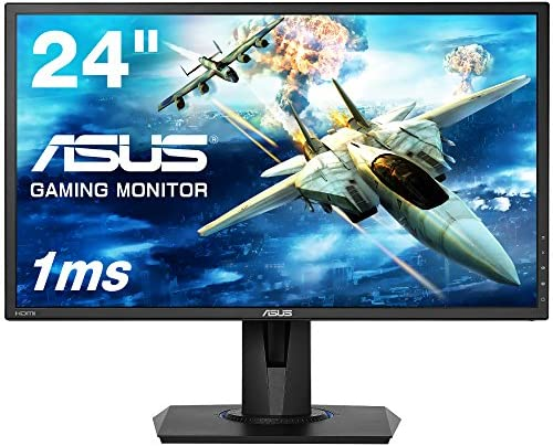 ASUSゲーミングモニター VG245H  24インチ フルHD/応答速度1ms/ HDMI 2ポート/ピボット/昇降/フリッカーフリー/ブルーライト軽減/スピーカー付