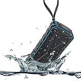 Bluetooth スピーカー 防水 SINDAX 高音質 ブルートゥース スピーカー IPX6防水/防塵 20時間連続再生 16W大音量低音強化 iphone Android ipod iPad対応 TFカード/AUX対応 内蔵マイク搭載 ハンズフリー通話 お風呂 アウトドア 車載用(ブルー)